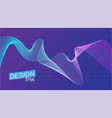 colored wave poster for sports vector image vector image