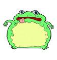 comic cartoon funny frog vector image vector image