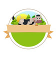 cow on green meadow vector image vector image
