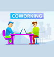 coworking concept banner cartoon style vector image vector image