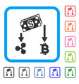 cryptocurrency cashflow framed icon vector image vector image