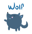 cute wolf cub on a white background vector image