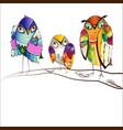 decorative bright birds vector image vector image