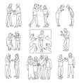 diverse gestures appreciation and respect vector image vector image