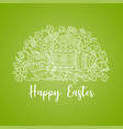 easter doodle card vector image