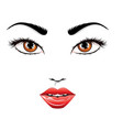 fashion fem face vector image vector image