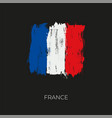 france colorful brush flag vector image