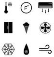freezer icon set vector image