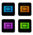 glowing neon play video with inscription 18 plus vector image vector image