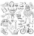 hand-drawn hipster style vector image