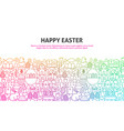 happy easter concept vector image vector image