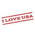 I Love USA Watermark Stamp vector image vector image