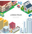 isometric cityscape colorful template vector image vector image