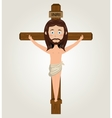 Jesus christ cross crucified desing isolated vector image vector image