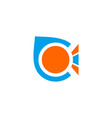 letter c o logo vector image vector image