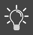 light bulb icon in grey background idea flat vector image vector image