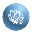 lily flower icon simple style vector image