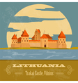 Lithuania landmarks Retro styled image vector image vector image