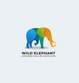 logo wild elephant gradient colorful vector image