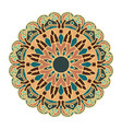 mandala design with pretty colors and patterns vector image vector image