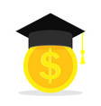 money for education scholarship for tuition vector image vector image