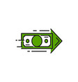 money transfer icon fast cash receiving isolated vector image