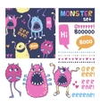 Monster set vector image vector image