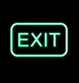 neon exit sign vector image vector image