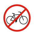 no bike allowed sign in white background vector image vector image