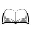 open book clipart silhouette symbol icon design vector image vector image