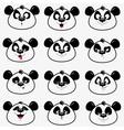Panda smile vector image vector image