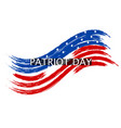 patriot day wave in colors of the national flag on vector image