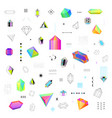 Polygonal crystals icons big set