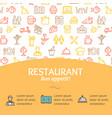 restaurant service bon appetit concept vector image