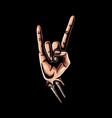rock hand sign vector image