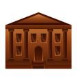 school building education icon vector image