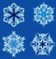 set of floral snowflakes vector image vector image