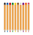 set of various color wooden crayons eps10 vector image vector image