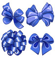 set with blue bows vector image vector image