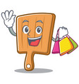 shopping kitchen board character cartoon vector image vector image