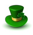 st patricks green hat with gold ribbon vector image