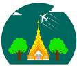 thai temple wat maha wanaram ubonratchathani vector image