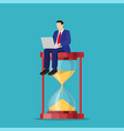 time management control vector image vector image
