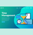 time management landing page vector image vector image