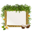 tropical yellow bamboo frame vector image