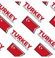 turkish flag turkey travel destination seamless vector image vector image