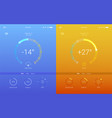 ui of mobile app page of weather summer and vector image vector image