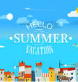 Vacation travelling concept Flat design He vector image vector image