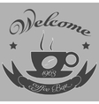 Vintage coffee themed monochrome labels vector image vector image