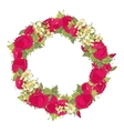 Watercolor flowers wreath vector image vector image